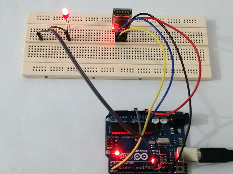 Arduino bluetooth led control android