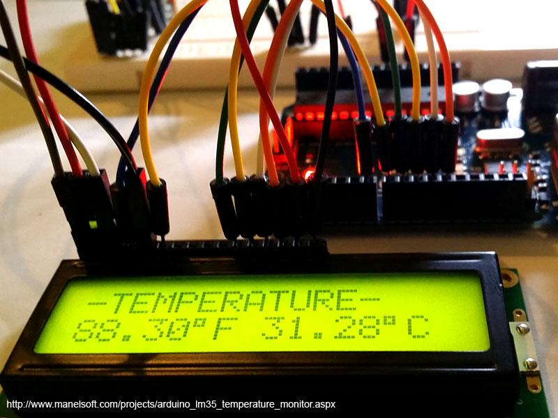 Arduino LM35 Temperature Monitor
